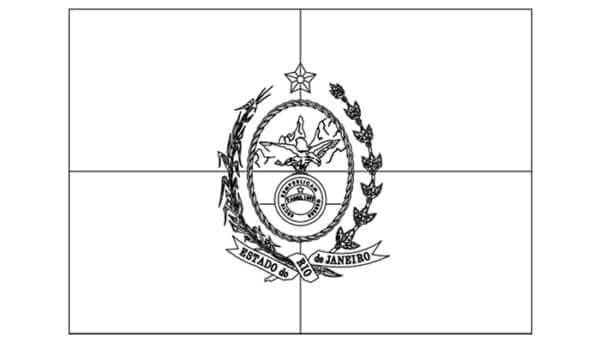 bandeira do Estado do RJ para colorir