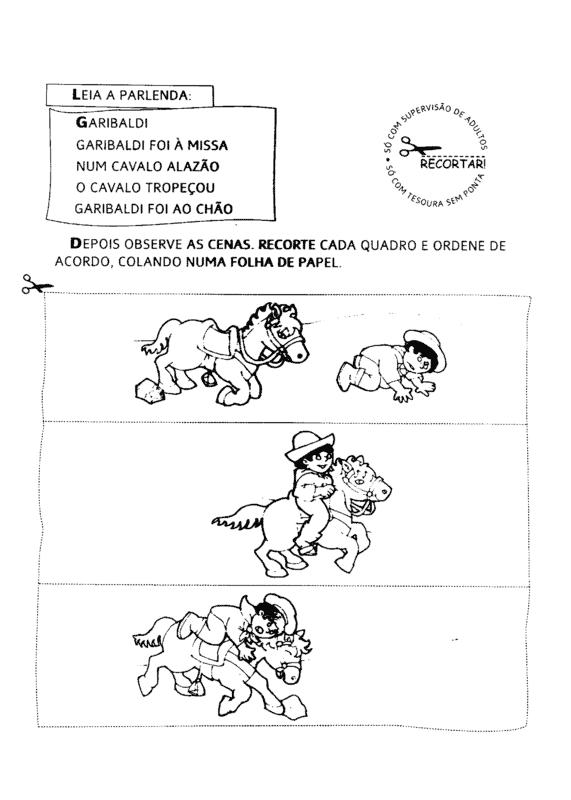 atividade com parlenda ilustrada para educacao infantil