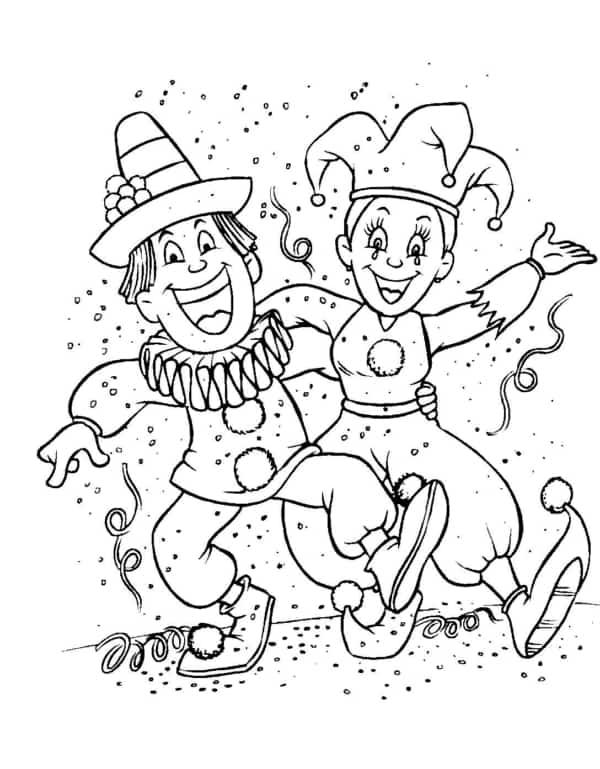 desenho de carnaval para imprimir e pintar