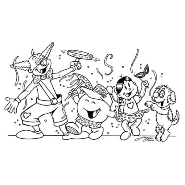 desenho de bloquinho de carnaval para colorir