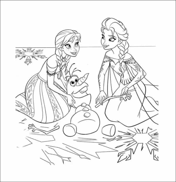 desenho com Olaf para colorir