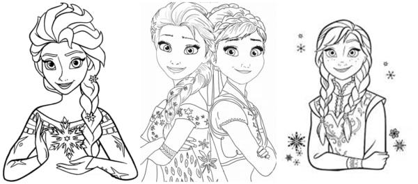 desenhos Frozen para pintar