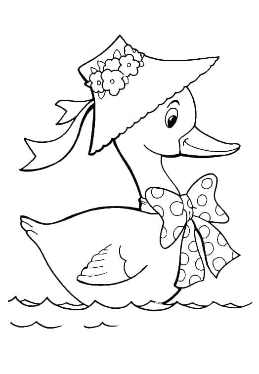 desenho de pata na lagoa