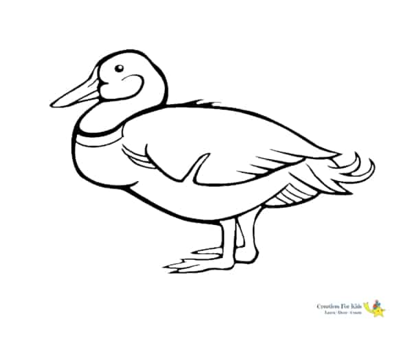 desenho simples de pato para imprimir