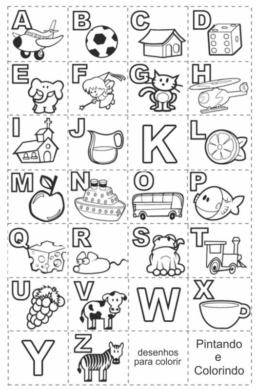 atividade de alfabeto para imprimir e colorir