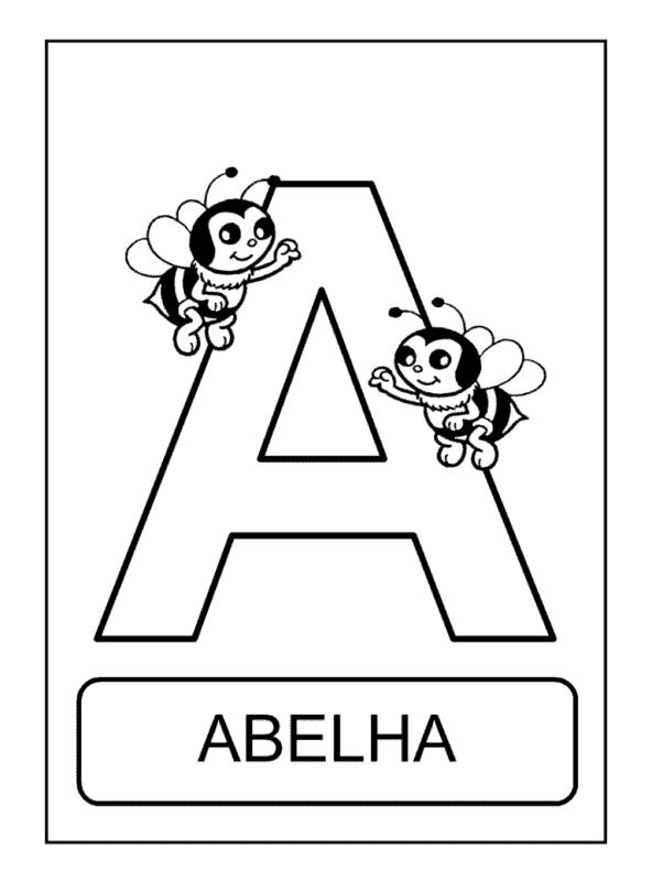 atividade com a letra A para colorir
