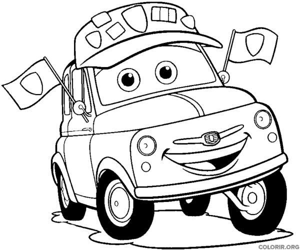 desenho Guido do filme carros para colorir