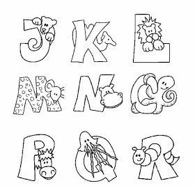 desenhos de letras para pintar