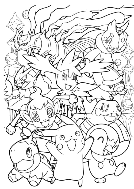 desenho dos Pokemons para colorir