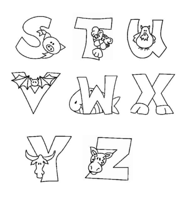 letras do alfabeto para pintar