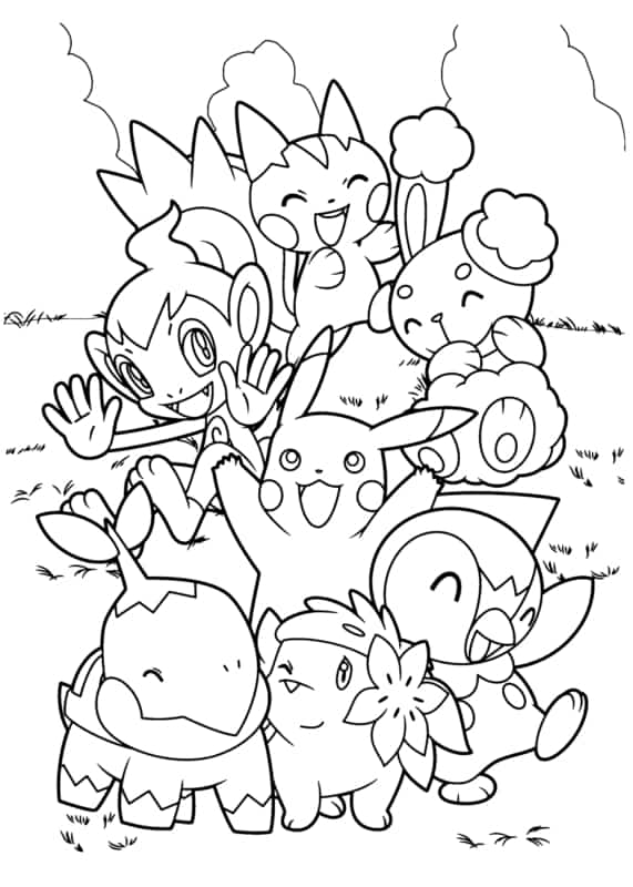 desenho Pokemon para imprimir gratis