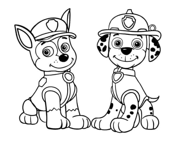 desenho para da patrulha canina para imprimir e pintar