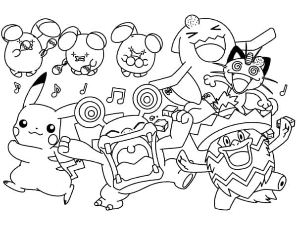 desenho Pokemon para pintar