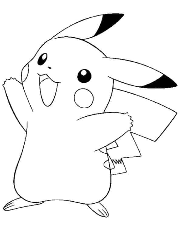 desenho Pikachu para colorir