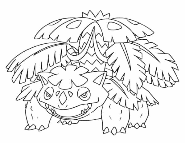 desenho de Pokemon para imprimir e pintar