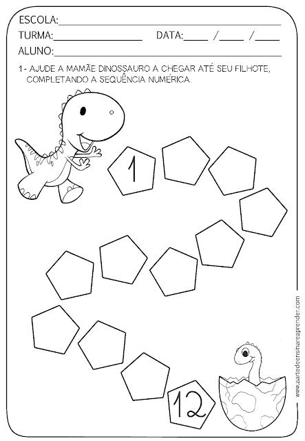 atividade de matematica para aprender e colorir