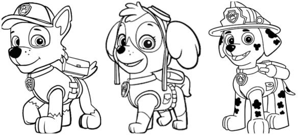 desenhos da patrulha canina para imprimir gratis