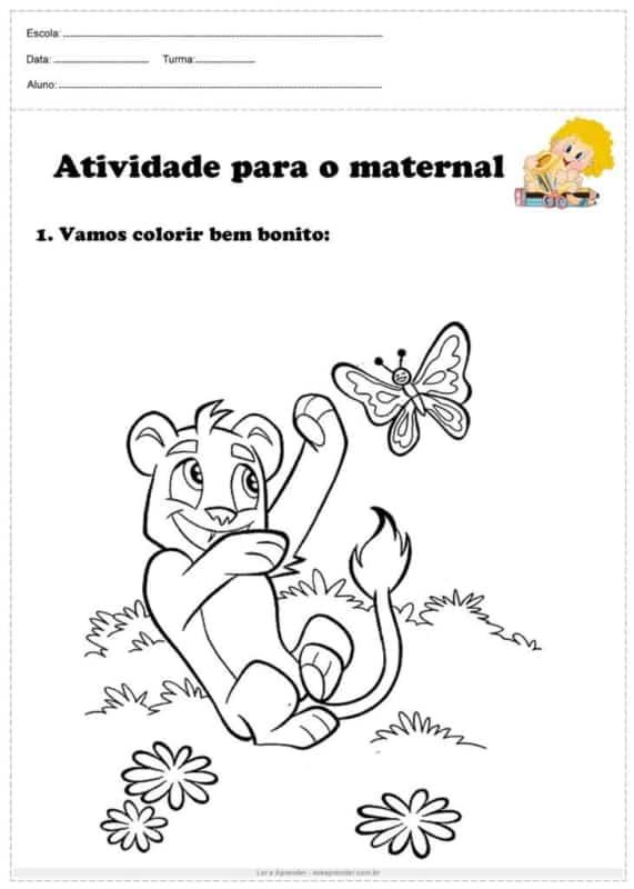 desenho simples para colorir no maternal