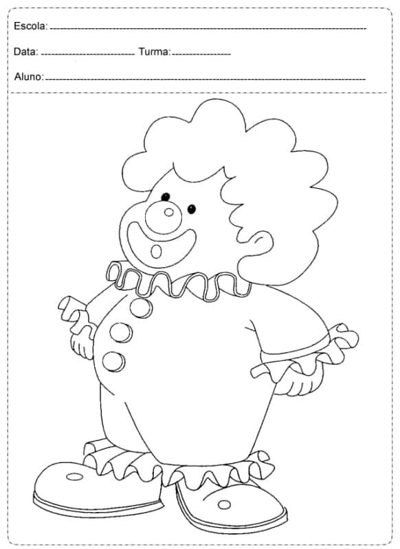 desenho de palhaco para colorir