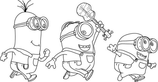 desenho para pintar dos Minions