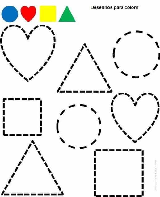 atividade de formas geometricas para colorir
