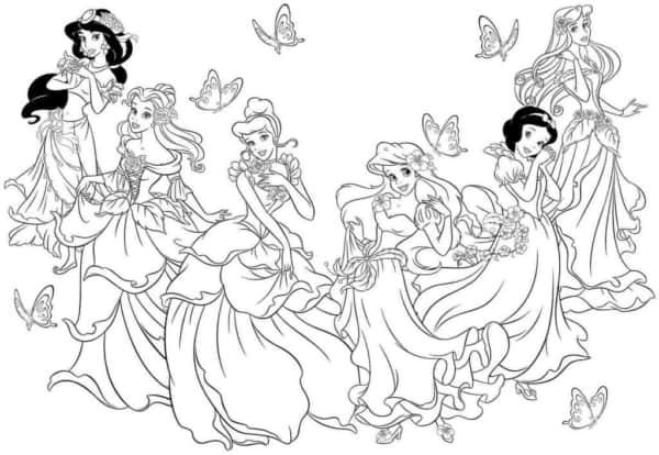 princesas da Disney para imprimir e colorir