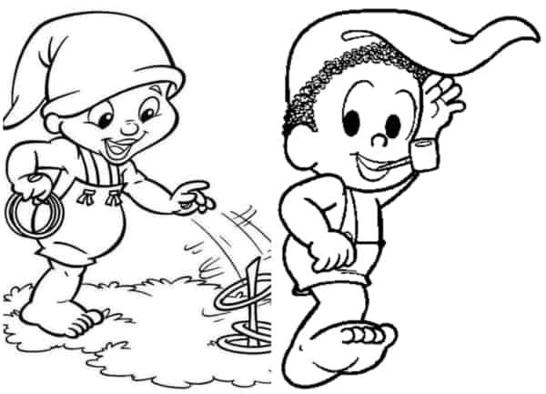 desenhos do Saci para colorir