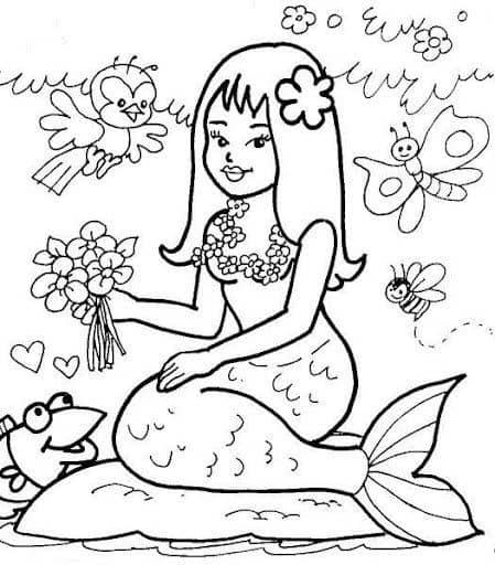 desenho da Iara para imprimir gratis