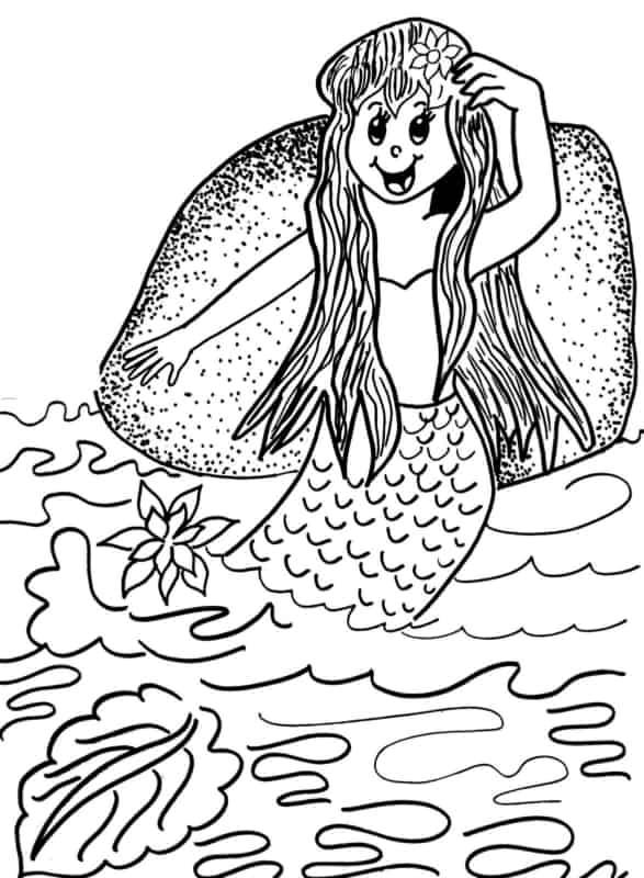 desenho do folclore da Iara