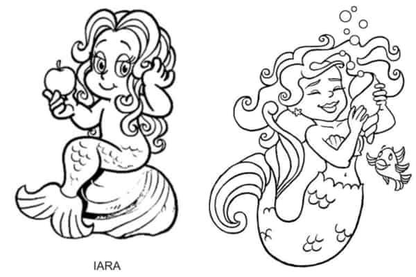 desenhos para colorir da Iara