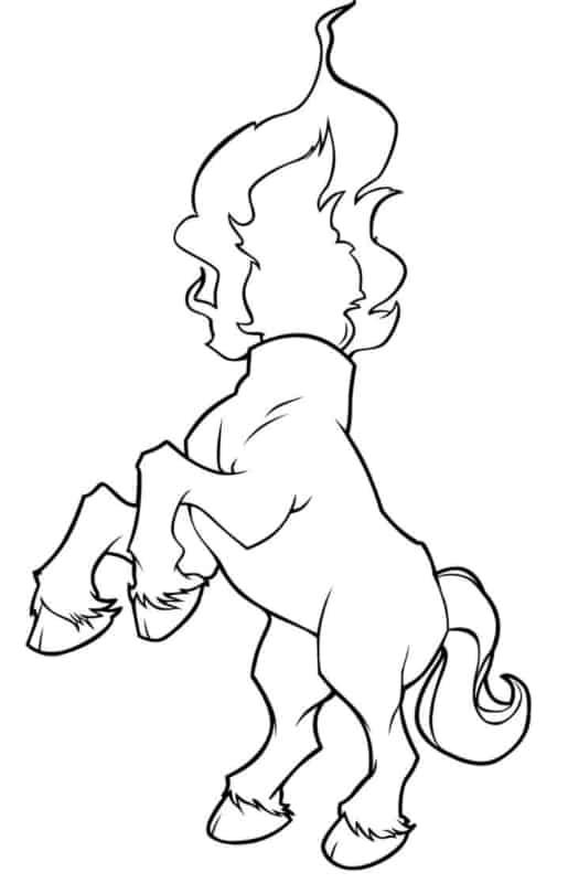 desenho da Mula sem cabeca para pintar