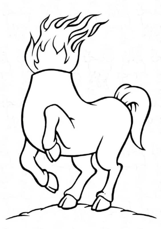 desenho da Mula Sem Cabeca para imprimir gratis