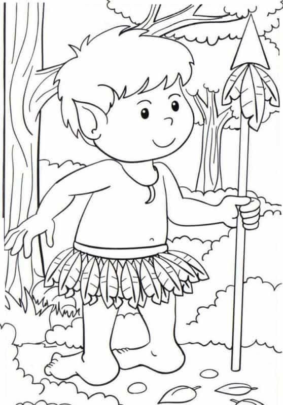 desenho do folclore para pintar