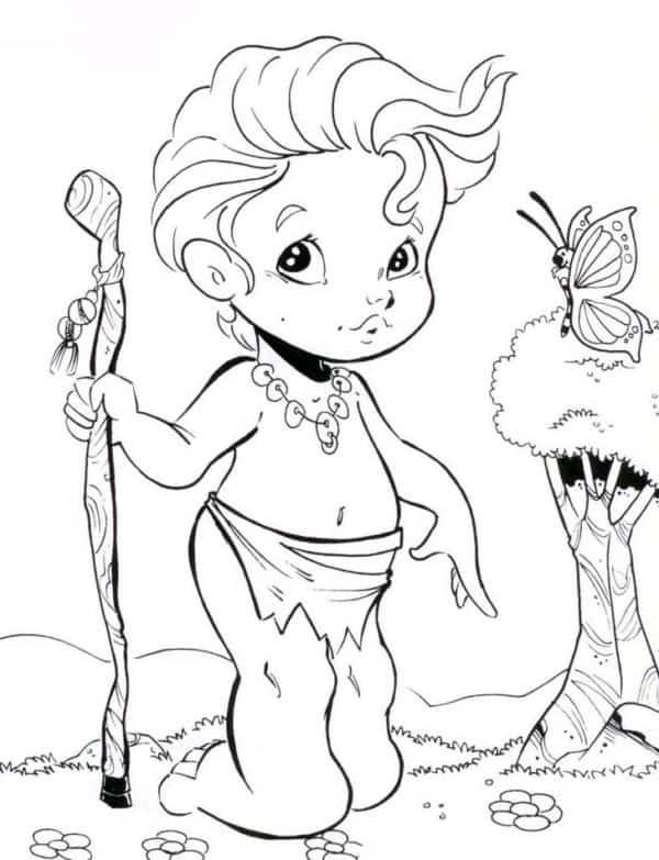 personagem do folclore Curupira