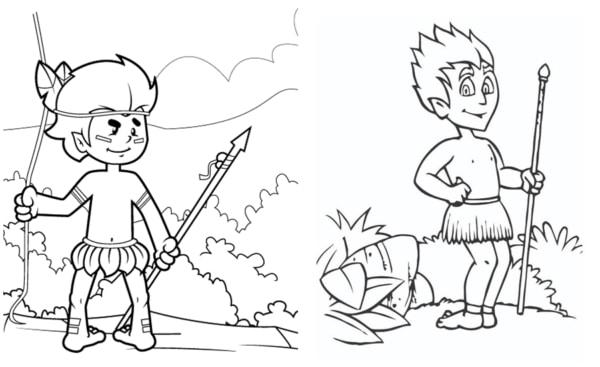 desenhos do Curupira para colorir