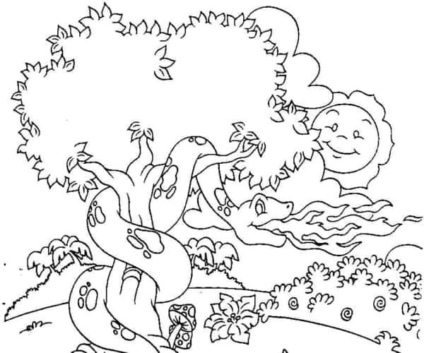 desenho do folclore Boitata