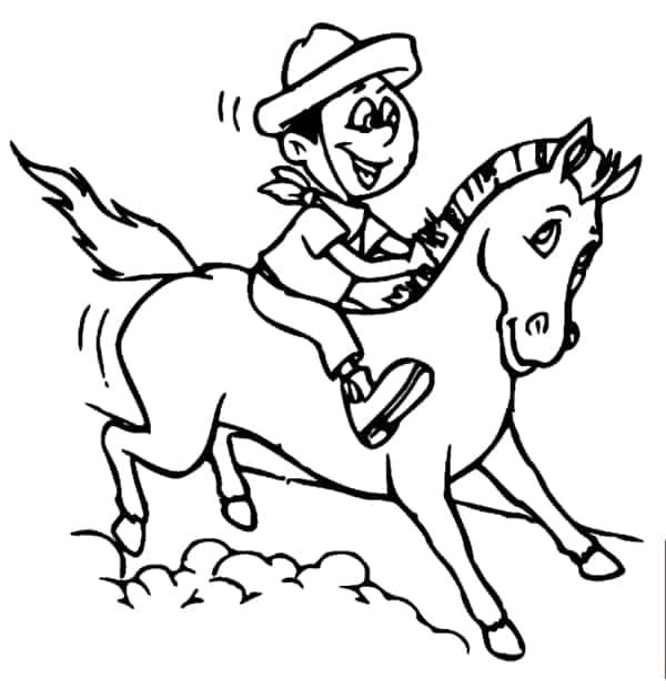 desenho da lenda do Negrinho do Pastoreio