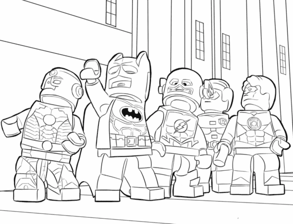 Batman e herois DC para colorir