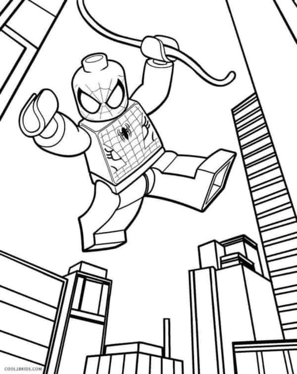 Homem Aranha para imprimir e colorir