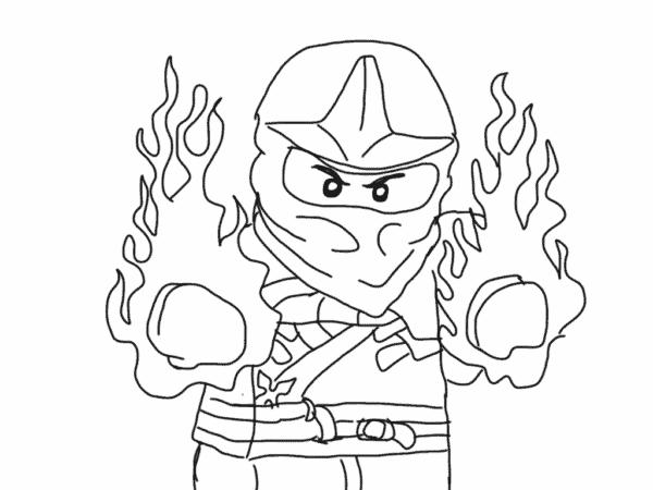 Ninjago Jay para colorir