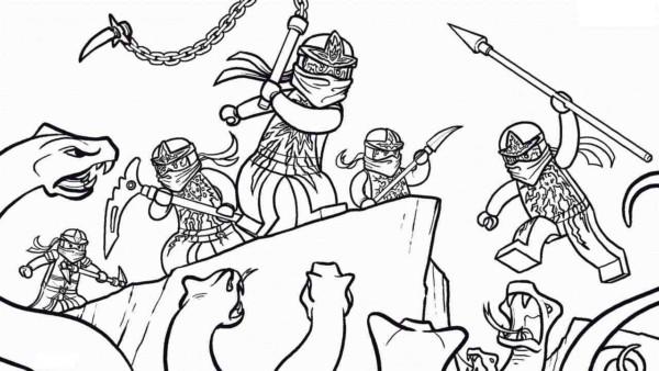 batalha Ninjago para colorir