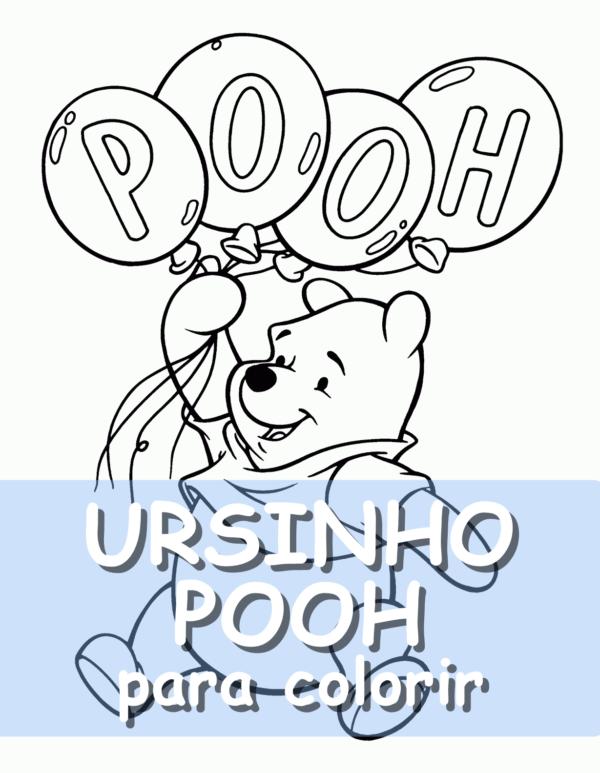 capa do post Ursinho Pooh para colorir