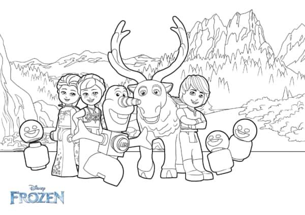 personagens Frozen para colorir