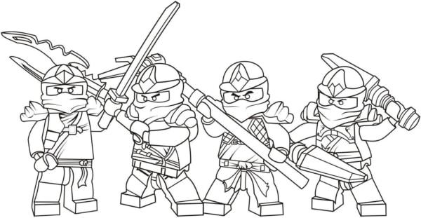 personagens Ninjago para colorir