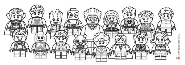 personagens de Vingadores para colorir
