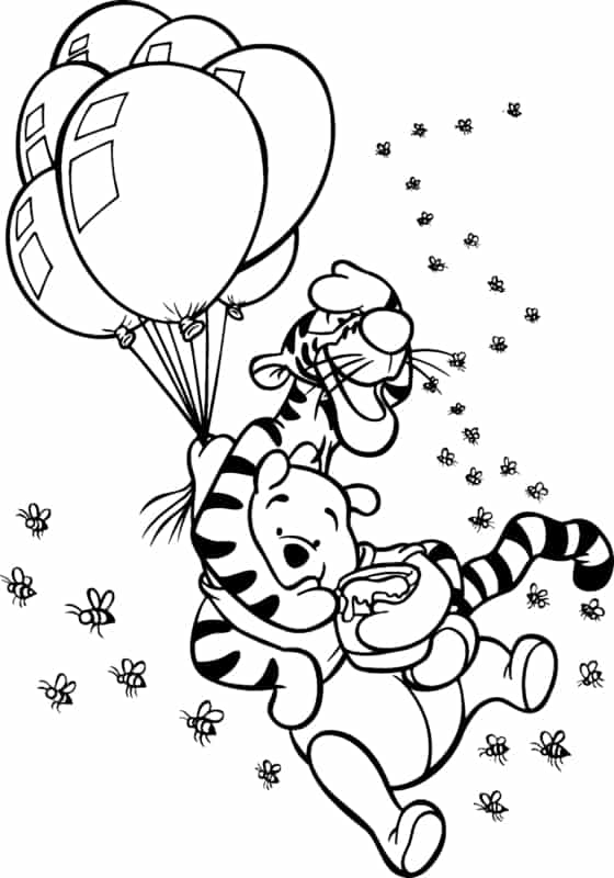 pooh com tigrao e baloes