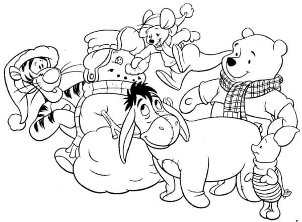 turma do ursinho pooh no inverno