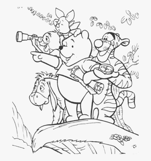turma do ursinho pooh para colorir