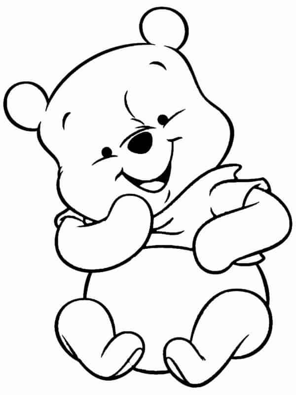 ursinho pooh baby para colorir