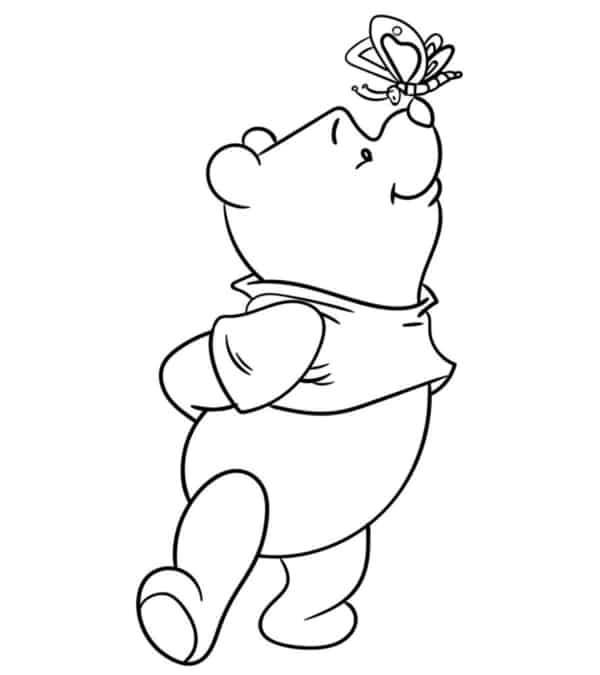 ursinho pooh com borboleta